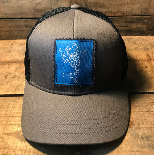 Mermaid (Block Print) Keep on Truckin' Organic Cotton Trucker Hat
