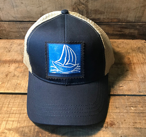Sailboat Keep on Truckin' Organic Cotton Trucker Hat
