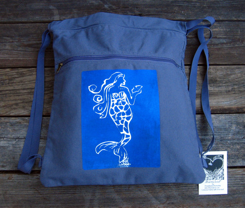 Mermaid Boho Cinch Backpack