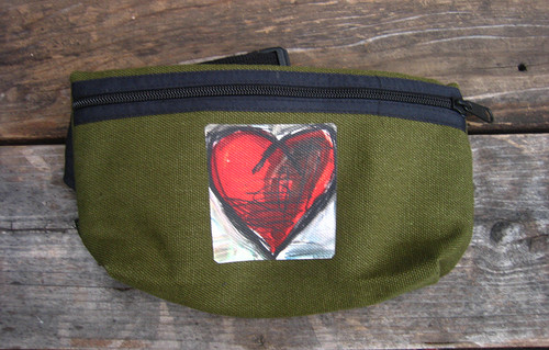 Falling into Ecstasy Heart Hemp Hip Pack & Cross Body Bag