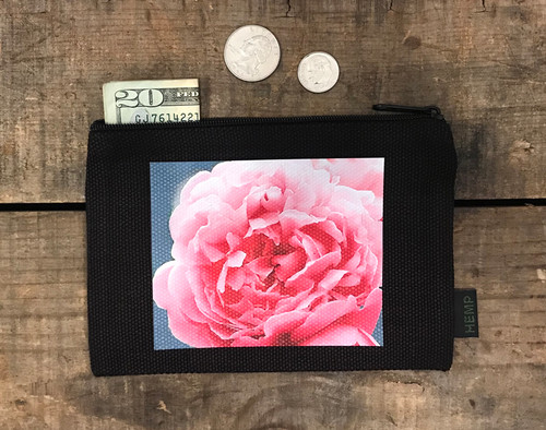 Pink Rose Medium & Large Hemp Coin Purse
