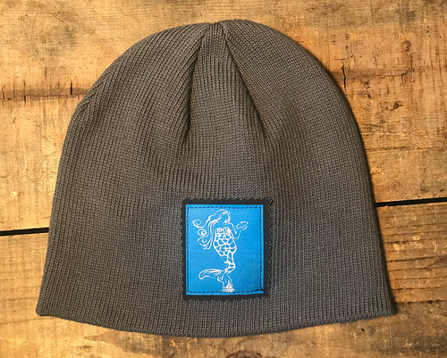 Mermaid (Block Print) Organic Cotton Beanie Hat