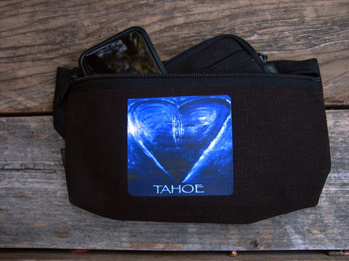 Blue Heart in TAHOE Hemp Hip Pack & Cross Body Bag