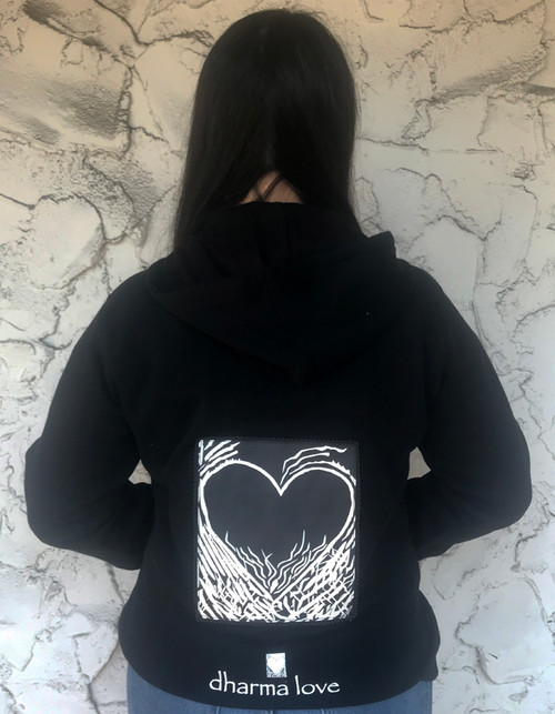 Flaming Heart of Love Organic Cotton/Recycled Polyester Women's Sweatshirt/Hoodie