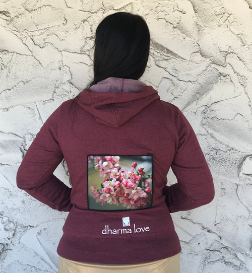 Pink Blossoms Women's Dharma Bum Organic Cotton/Recycled Polyester Sweatshirt/Hoodie
