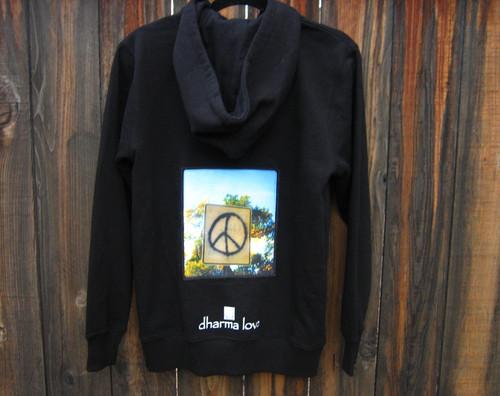 Peace Sign Taos Men's Dharma Bum Organic Cotton Sweatshirt/Hoodie