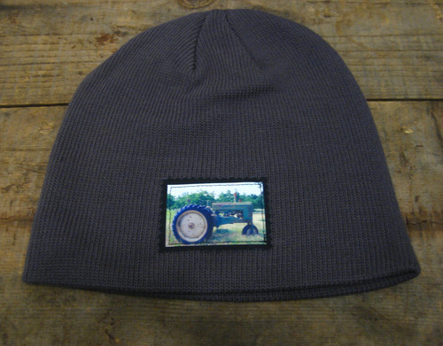 Tractor  (Old Tractor) Organic Cotton Beanie Hat