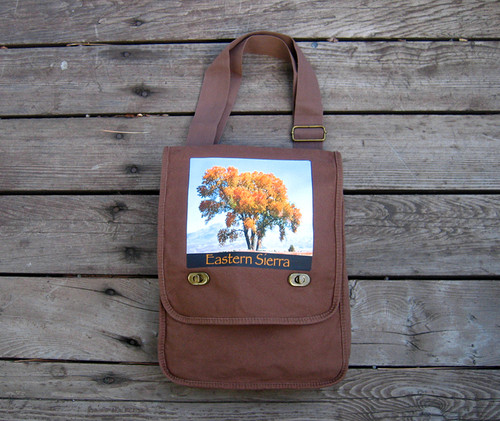 Cottonwood Tree #817 Eastern Sierra Cotton Canvas Field/Messenger Bag