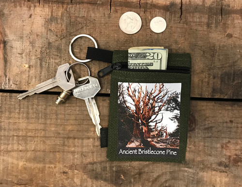 Ancient Bristlecone Pine #818 Hemp Key Coin Purse