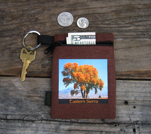 Cottonwood Tree #817 Eastern Sierra  Hemp Key Coin Purse