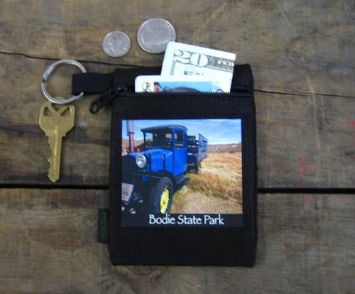 Blue Truck #812 Bodie State Park Hemp Key Coin Purse