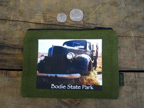Green Truck #811 Bodie State Park Medium & Large Hemp Coin Purse