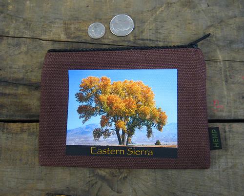 Cottonwood Tree #817 Eastern Sierra Medium & Large Hemp Coin Purse