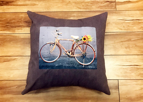 Bamboo Bike Handcrafted, Eco Dyed Cotton Pillow