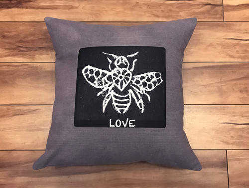 Bee Love Handcrafted, Eco Dyed Cotton Pillow