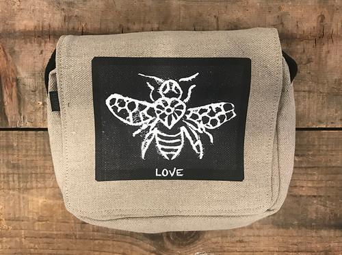 Bee Love Small & Large City Slicker Hemp Purse/Bag