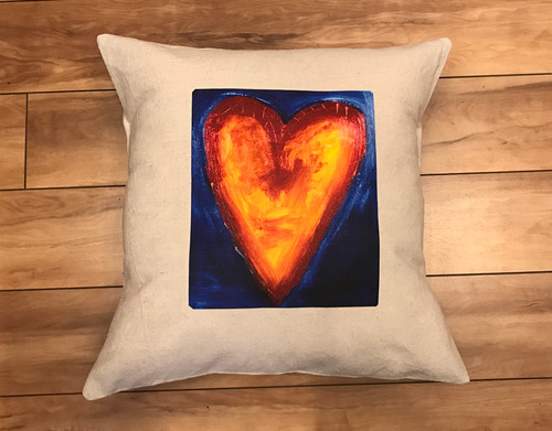 Corazon del sol (Heart of the sun) Handcrafted Eco Dyed Cotton Pillow