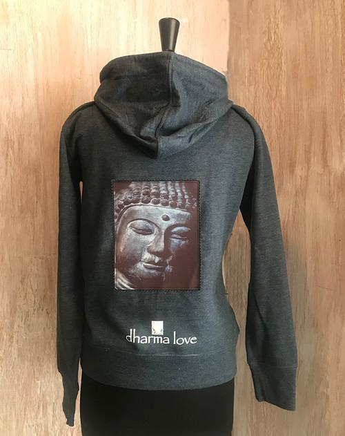 Buddha's Face Women's Dharma Bum Organic Cotton/Recycled Polyester Sweatshirt/Hoodie
