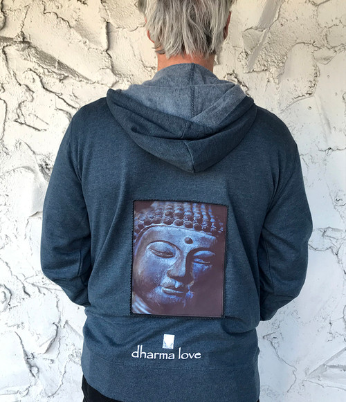 Buddha's Face Men's Dharma Bum Organic Cotton/Recycled Polyester Sweatshirt/Hoodie