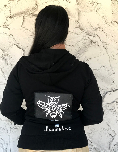 Bee Love Women's Dharma Bum Organic Cotton/Recycled Polyester Sweatshirt/Hoodie