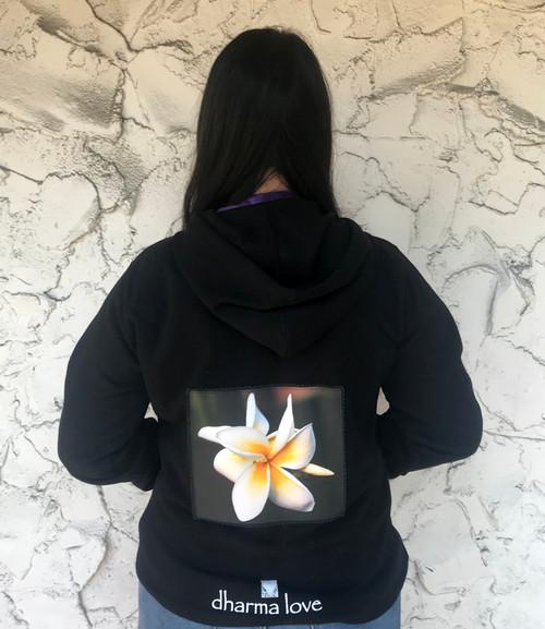Plumeria Women's Dharma Bum Organic Cotton/Recycled Sweatshirt/Hoodie