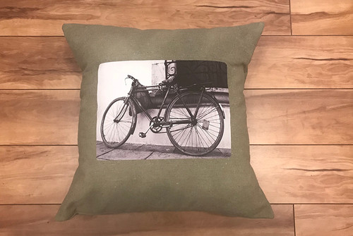 Bike (bicycle) Handcrafted Eco Friendly Cotton Pillow