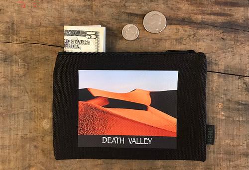 Mesquite Dunes at Sunrise #925 Death Valley National Park Medium & Large Hemp Coin Purse
