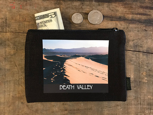 Mesquite Dunes #922 Death Valley National Park Medium & Large Hemp Coin Purse