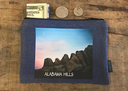 Alabama Hills Moonrise#900 Medium & Large Hemp Coin Purse