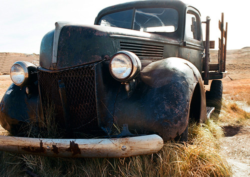 Green Truck #811 Bodie State Park Greeting Card