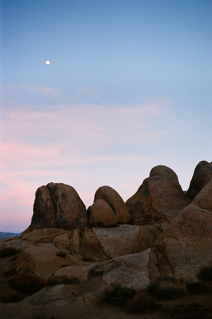 Alabama Hills Moonrise #912 Greeting Card