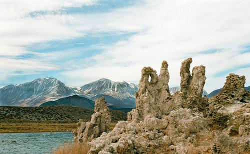 Mono Lake  with Eastern Sierra Mountain Range #830 Greeting Card