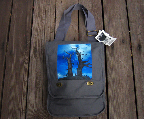 Snags above Tahoe Cotton Canvas Field/Messenger Bag