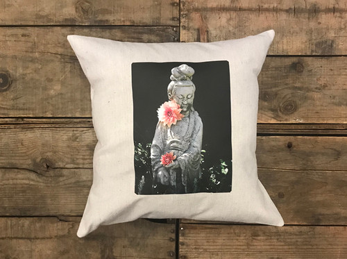 Quan Yin (Goddess of compassion) Handcrafted Pillow