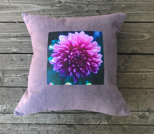 Amanda's Dahlia Handcrafted, Eco Friendly Dyed Pillow