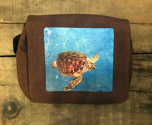 Sea Turtle Hemp Small & Large City Slicker Purse