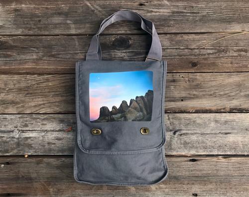 Alabama Hills Moonrise#900 Cotton Canvas Field Bag/ Purse