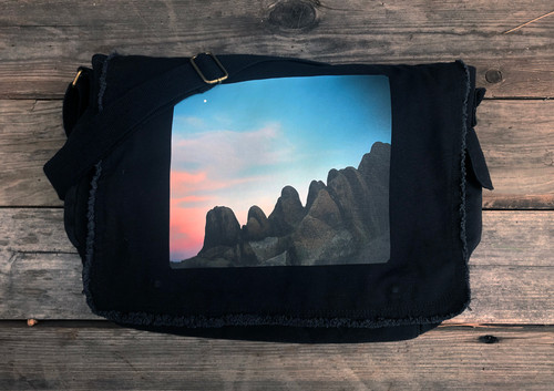 Alabama Hills Moonrise #900 Cotton Canvas Messenger Bag