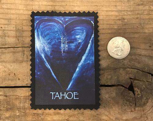 Lake Tahoe Blue Heart in Tahoe Sew On Patch