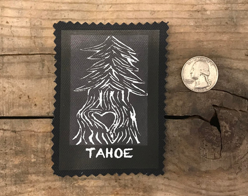 Lake Tahoe Pine Tree with Heart Tahoe Sew On Patch