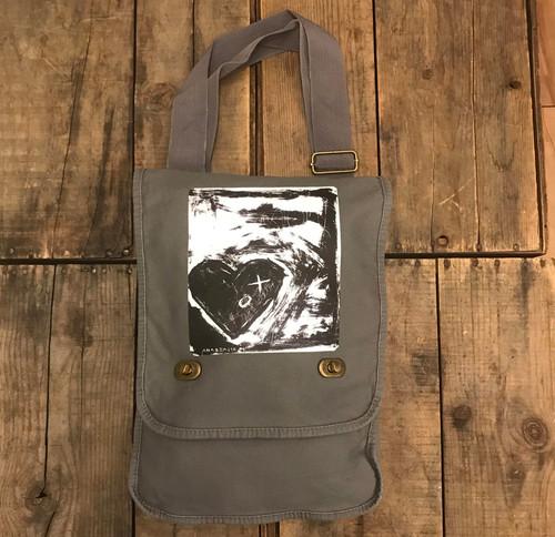 Forget Me Not Heart Cotton Canvas Field/Messenger Bag