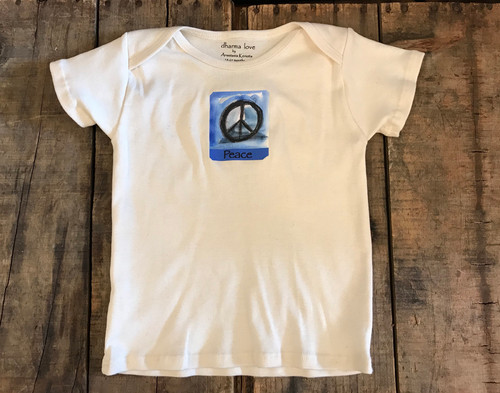 Peace Sign Certified Organic Cotton Toddler T 18-24 Months