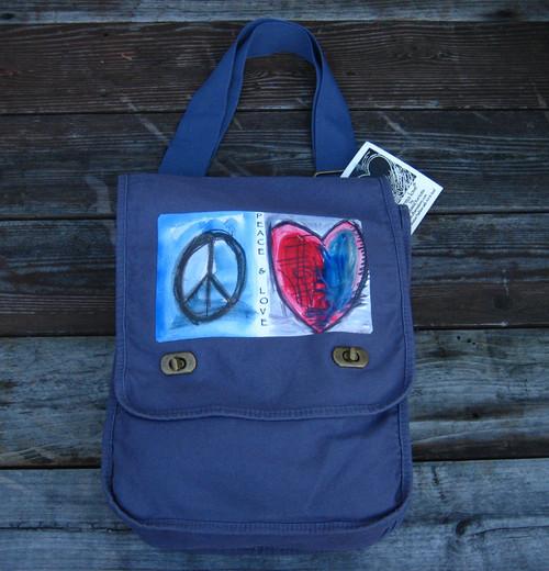 Peace & Love Field Bag