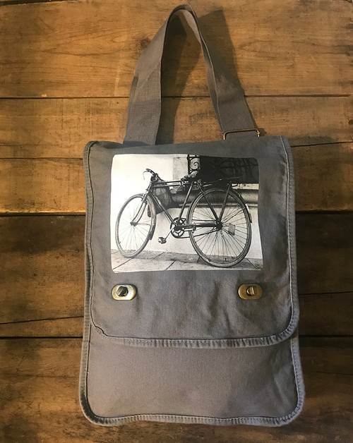 Bike (Bicycle) Cotton Canvas Field/Messenger Bag