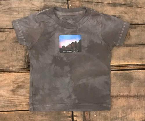 Alabama Hills Moonrise #901 Kid's Certified Organic Cotton T Shirt