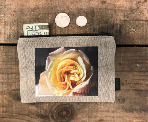 Peace Rose Medium & Large Hemp Coin Purse/Pouch