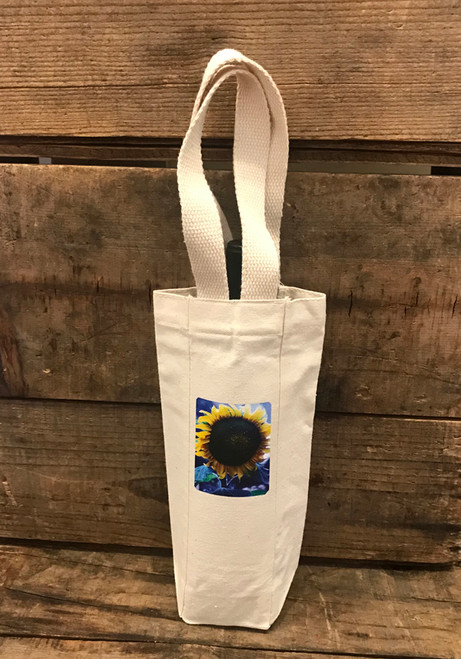 Majestic Sunflower Single & 2  Bottle Cotton Canvas Wine/Gift Bag