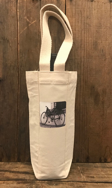 Bike Single & 2 Bottle Cotton Canvas Wine/Gift Bag