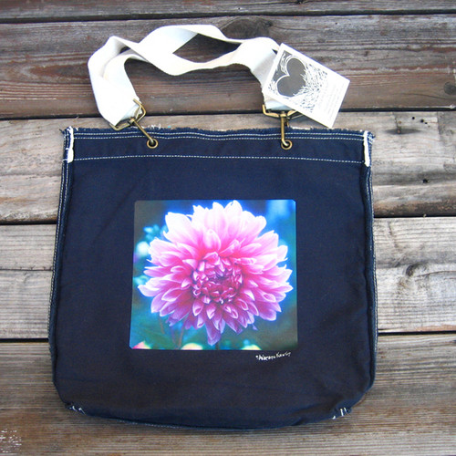Amanda's Dahlia  Cotton  Girly Tote/Purse