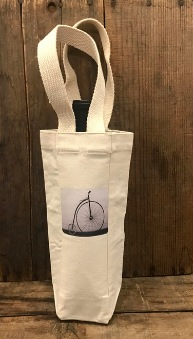 Bike Penny Farthing Single & 2 Bottle Cotton Canvas Wine/Gift Bag